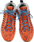 Basketball Collectibles:Others, 2013 Gerald Henderson Jr. Game Worn, Signed Shoes - Rare JordanStyle!...