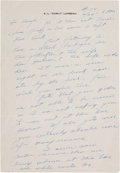 Football Collectibles:Others, Curly Lambeau Handwritten Signed Letter - February 24, 1965 (Green Bay Packers Famed Coach)....