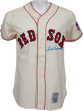 Baseball Collectibles:Uniforms, Ted Williams Signed Upper Deck Authenticated Boston Red Sox Jersey. ...