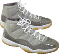 Basketball Collectibles:Others, 2002 Michael Jordan Game Worn Shoes - Rare Cool Grey Air Jordan XIStyle....