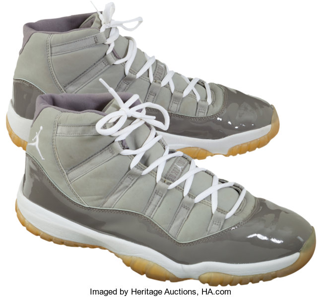 4f4707dd5dd ... Basketball Collectibles:Others, 2002 Michael Jordan Game Worn Shoes - Rare  Cool Grey Air ...