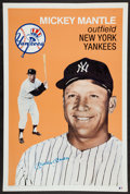 Baseball Collectibles:Others, Mickey Mantle Signed Huge Cardboard Poster....