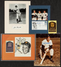 Baseball Collectibles:Others, Baseball Greats Signed Memorabilia Lot of 5....