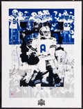 """Football Collectibles:Others, 1993 Troy Aikman Signed """"Super Bowl XXVII"""" Lithographs Lot of 4. ..."""