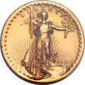 High Relief Double Eagles, 1907 $20 High Relief, Wire Rim -- Mount Removed -- PCGS Genuine. XF Details....