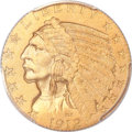 Proof Indian Half Eagles, 1912 $5 PR66 PCGS Secure. CAC....
