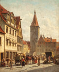 Fine Art - Painting, European:Antique  (Pre 1900), JACQUES FRANÇOIS CARABAIN (Belgian, 1834-1920). Market Day,Nuremberg, Germany, circa 1890s. Oil on panel. 22-1/4 x 18-1...