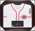 Baseball Collectibles:Uniforms, Ken Griffey Jr. Signed Cincinnati Reds Jersey Display....