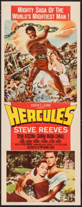 "Movie Posters:Action, Hercules & Others Lot (Warner Brothers, 1959). Insert (14"" X36"") & One Sheet (27"" X 41""). Action.. ... (Total: 2 Items)"