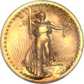 Proof High Relief Double Eagles, 1907 $20 High Relief, Wire Rim PR63 NGC....