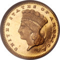 Gold Dollars, 1866 G$1 MS67 ★ Prooflike NGC....