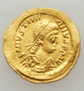 Ancients:Byzantine, Ancients: Justinian I (AD 527-565). AV tremissis (1.52 gm)....
