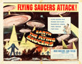 "Movie Posters:Science Fiction, Earth vs. the Flying Saucers (Columbia, 1956). Half Sheet (22"" X28"") Style B.. ..."