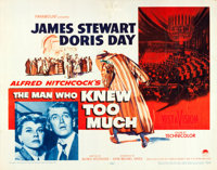 """The Man Who Knew Too Much (Paramount, 1956). Half Sheets (2) (22"""" X 28"""") Red & Yellow Style. Hitchcock..."""