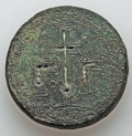 Ancients:Byzantine, Ancients: Byzantine Empire Ca. AD 500-650. Round 3 uncia weight(38.5mm, 79.36 gm). ...