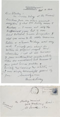 Autographs:Others, 1963 Branch Rickey Handwritten Signed Letter to Stan Musial....