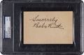 Autographs:Others, 1930's Babe Ruth Signed Album Page, PSA/DNA Mint 9....