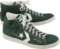 Basketball Collectibles:Others, 1984 Robert Parish Game Worn, Signed Shoes - Attributed to '84 NBAFinals....