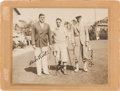Autographs:Photos, Circa 1931 Babe Ruth & Cy Perkins Signed Mounted Photograph,PSA/DNA Gem Mint 10....