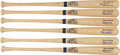 Autographs:Bats, Stan Musial Signed Bats Lot of 6....