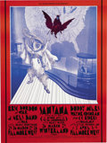 Music Memorabilia:Posters, Eric Burdon and War/Santana Winterland/Fillmore West Concert PosterBG-275 (Bill Graham, 1971). This double-size poster act... (Total:1 Item)