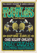 Music Memorabilia:Posters, The Turtles Fillmore Concert Poster BG-15 (Bill Graham, 1966). TheTurtles were among the most popular Rock acts in the cou... (Total:1 Item)