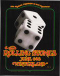 """Music Memorabilia:Posters, Rolling Stones """"Tumbling Dice"""" Winterland Concert Poster BG-289(Bill Graham, 1972). A very popular poster from one of the ...(Total: 1 Item)"""