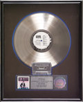 "Music Memorabilia:Awards, Tom Petty ""Full Moon Fever"" RIAA Platinum Album Award. Presented toMCA Records to commemorate the sale of more than one mil... (Total:1 Item)"