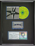 "Music Memorabilia:Awards, REM ""Automatic For the People"" RIAA Platinum Award. Presented toRecord & Tape Traders to commemorate the sale of more than ...(Total: 1 Item)"