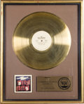 "Music Memorabilia:Awards, Isley Brothers ""Winner Takes All"" RIAA Gold Album Award. An RIAAaward presented to Rudolph Isley to commemorate the sale of...(Total: 1 Item)"
