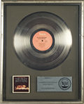 "Music Memorabilia:Awards, Isley Brothers ""Go For Your Guns"" RIAA Platinum Album Award. AnRIAA award presented to Rudolph Isley to commemorate the sal...(Total: 1 Item)"