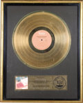 """Music Memorabilia:Awards, Isley Brothers """"Between the Sheets"""" RIAA Gold Album Award. An RIAAaward presented to Rudolph Isley to commemorate the sale ...(Total: 1 Item)"""