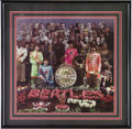 "Music Memorabilia:Original Art, Beatles Framed Print of Alternate ""Sgt. Pepper's"" Cover Art. One ofthe most iconic images of the 20th Century, the Grammy A... (Total:1 Item)"