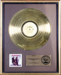 "Music Memorabilia:Awards, Isley Brothers ""Go All the Way"" RIAA Gold Album Award. An RIAAaward presented to Rudolph Isley to commemorate the sale of m...(Total: 1 Item)"