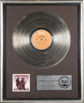 "Music Memorabilia:Awards, Isley Brothers ""Go All the Way"" RIAA Platinum Album Award. An RIAAaward presented to Rudolph Isley to commemorate the sale ...(Total: 1 Item)"