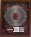 "Music Memorabilia:Awards, A Perfect Circle ""Mer De Noms"" RIAA Platinum Album Award. Presentedto Record & Tape Traders to commemorate the sale of more...(Total: 1 Item)"