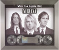 "Music Memorabilia:Awards, Nirvana ""With the Lights Out"" RIAA Platinum Award. Presented toRecord & Tape Traders to commemorate the sale of more than o...(Total: 1 Item)"