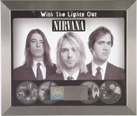 "Nirvana ""With the Lights Out"" RIAA Platinum Award. Presented to Record & Tape Traders to commemorate t..."