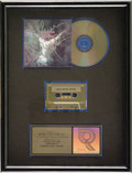 Music Memorabilia:Awards, Emerson, Lake, and Palmer Autographed RIAA Gold Cd Award. A goldsales award signed by Keith Emerson, Greg Lake, and Carl Pa...(Total: 1 Item)
