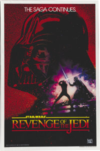 """Star Wars: Revenge of the Jedi"" Rare Movie Poster. Before being released in theaters as Star Wars: Return of..."