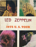 "Music Memorabilia:Memorabilia, Led Zeppelin U.S. Tour Book (1975). 20 pages and measures 8 1/2"" x11"". In VG condition, with writing on back and front cove...(Total: 1 Item)"