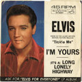 Music Memorabilia:Recordings, Elvis Presley Promo Group of 10 (RCA, 1964-71). Way cool group ofpromo 45s, all but a few with picture sleeves. Three of th...(Total: 10 Items Item)