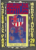Music Memorabilia:Posters, Beatles Candlestick Park Concert Poster, Program, and Ticket Group (1966). By 1966, the Fab Four were finding things on the... (Total: 3 Items Item)