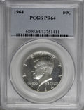 Proof Kennedy Half Dollars: , 1964 50C PR64 PCGS. PCGS Population (275/9416). NGC Census:(62/5332). Mintage: 3,950,762. Numismedia Wsl. Price for NGC/PC...
