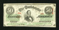 Confederate Notes:1863 Issues, Low Serial Number T57 $50 1863.. ...