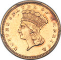 Gold Dollars, 1875 G$1 AU58 PCGS. CAC....