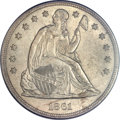 Seated Dollars, 1861 $1 MS63 PCGS....