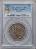 French Colonies: Louis Philippe I 5 Centimes 1839-A