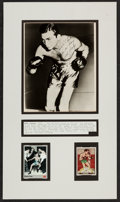 Boxing Collectibles:Autographs, Barney Ross Signed Photograph and Card Display....