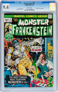Bronze Age (1970-1979):Horror, Frankenstein #1 (Marvel, 1973) CGC NM 9.4 White pages....